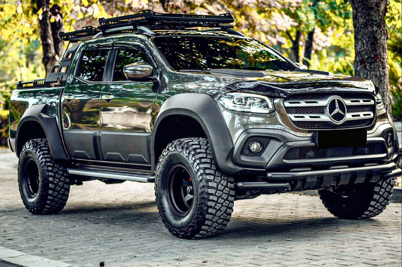 Pure Beast Mode Mercedes X Class Equiped Wit Fender Flares Scoop Bo In 2020 Mercedes Truck Mercedes Benz Cars Mercedes Benz Classes