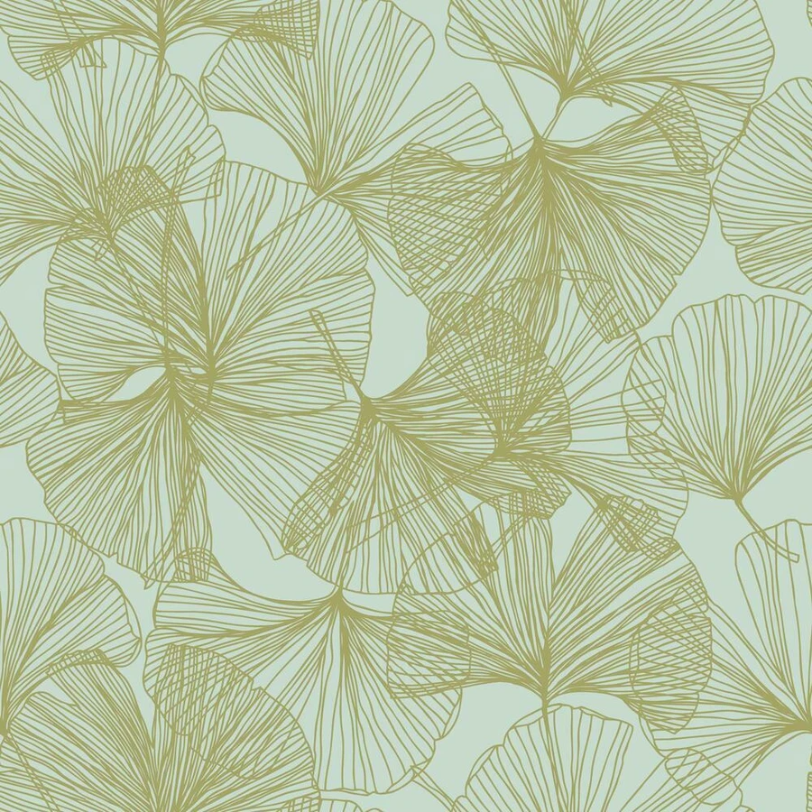 Gingko Leaves Peel And Stick Wallpaper In 2021 Gingko Leaves Peel And Stick Wallpaper Wallpaper Roll