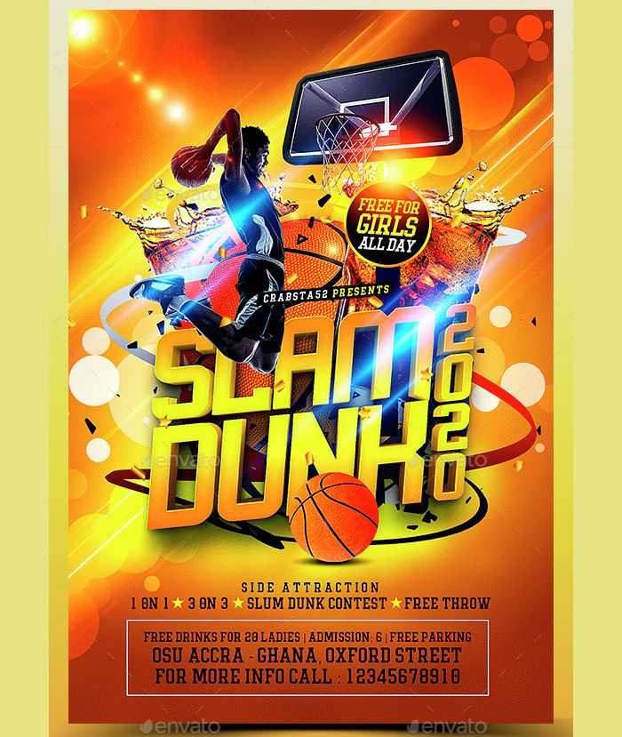 slam-dunk-basketball-flyer Flyer Templates Pinterest Psd - emerald flyer template