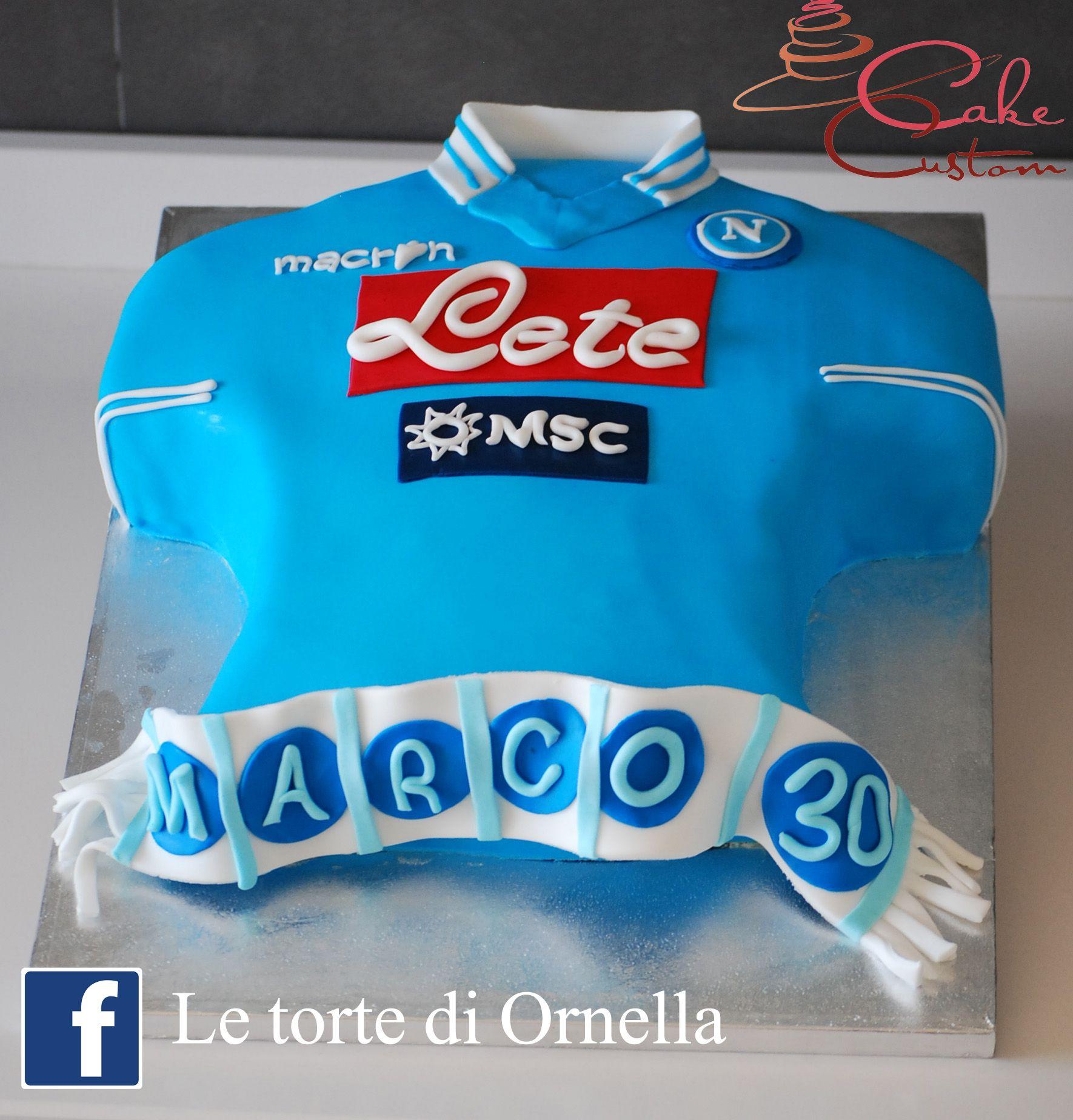 Calcio 2019 Nel Del Ornella Napoli Torte Maglietta Di TortaLe nk0OX8Pw