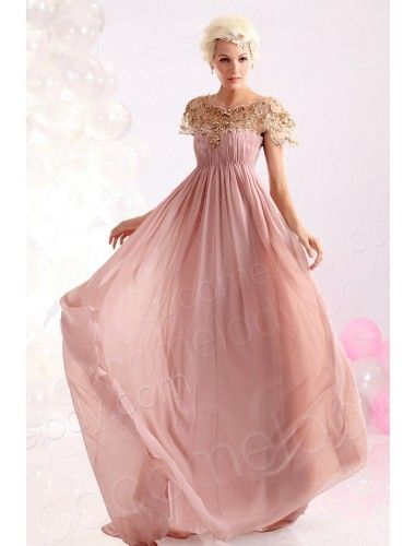 Tank Top Sweep Brush Train Chiffon Pink Mother Of The Bride Dress