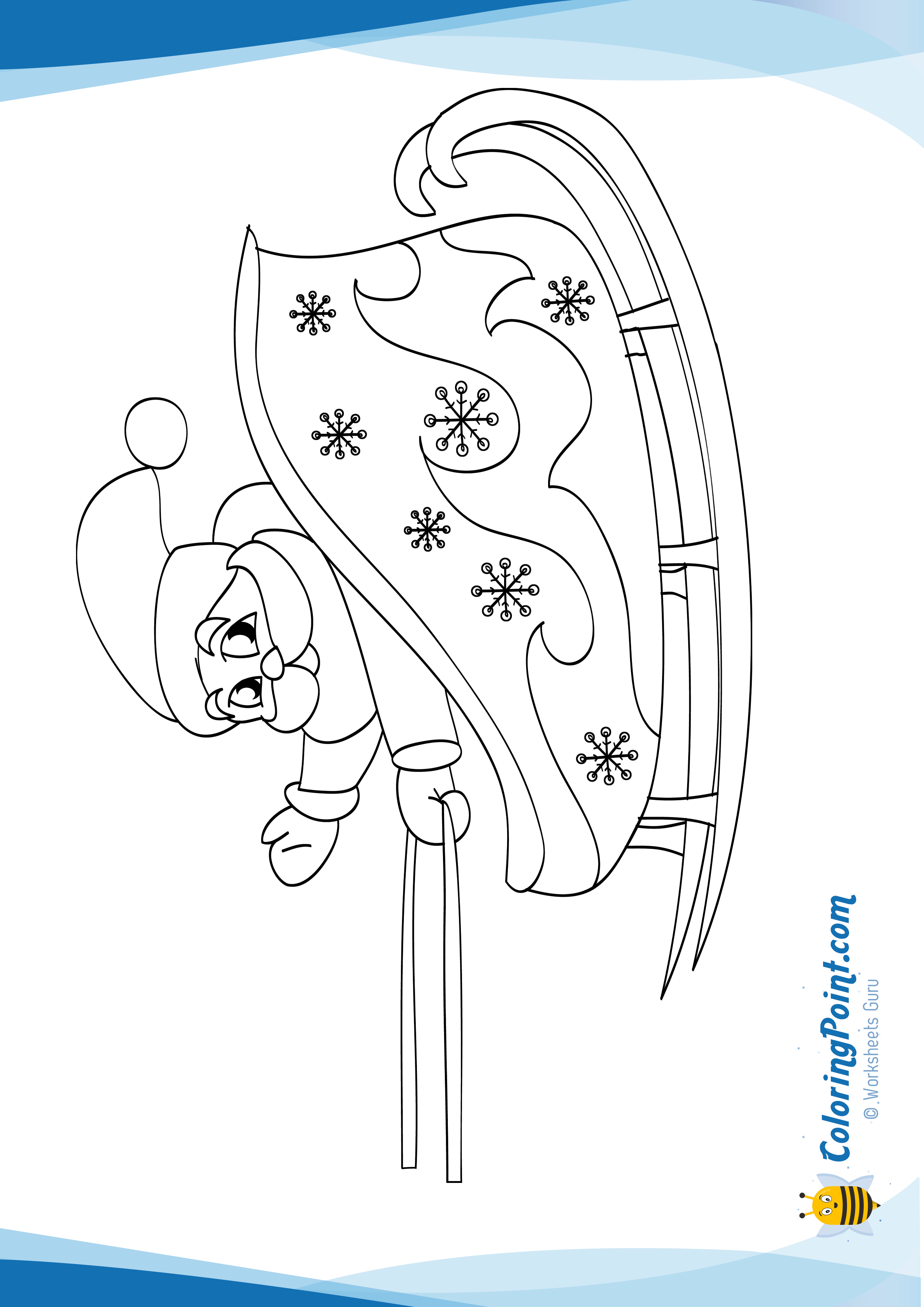Santa Claus On His Sleigh Coloring Page There Is A New