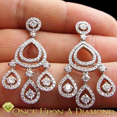 Diamond chandelier earrings in 18k white gold 187ctw pretty diamond chandelier earrings in 18k white gold 187ctw aloadofball Gallery