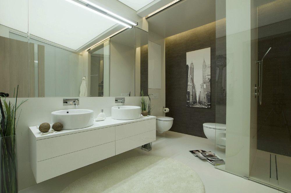 Ático de diseño futurista u2013 Visioninteriorista baños SFP - baos de lujo
