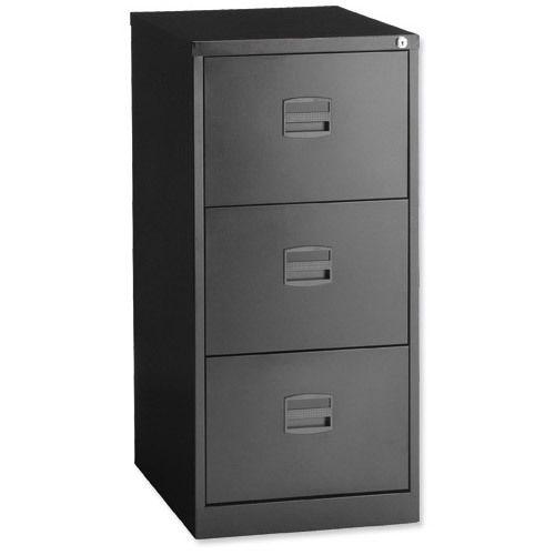 Bisley 3 Drawer Economy Filing Cabinet - Black - London Office Interiors