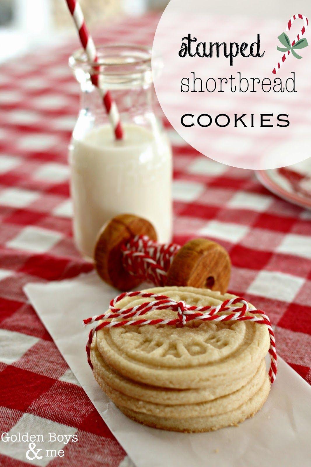 Stamped Shortbread Cookie Recipe Goldenboysandme