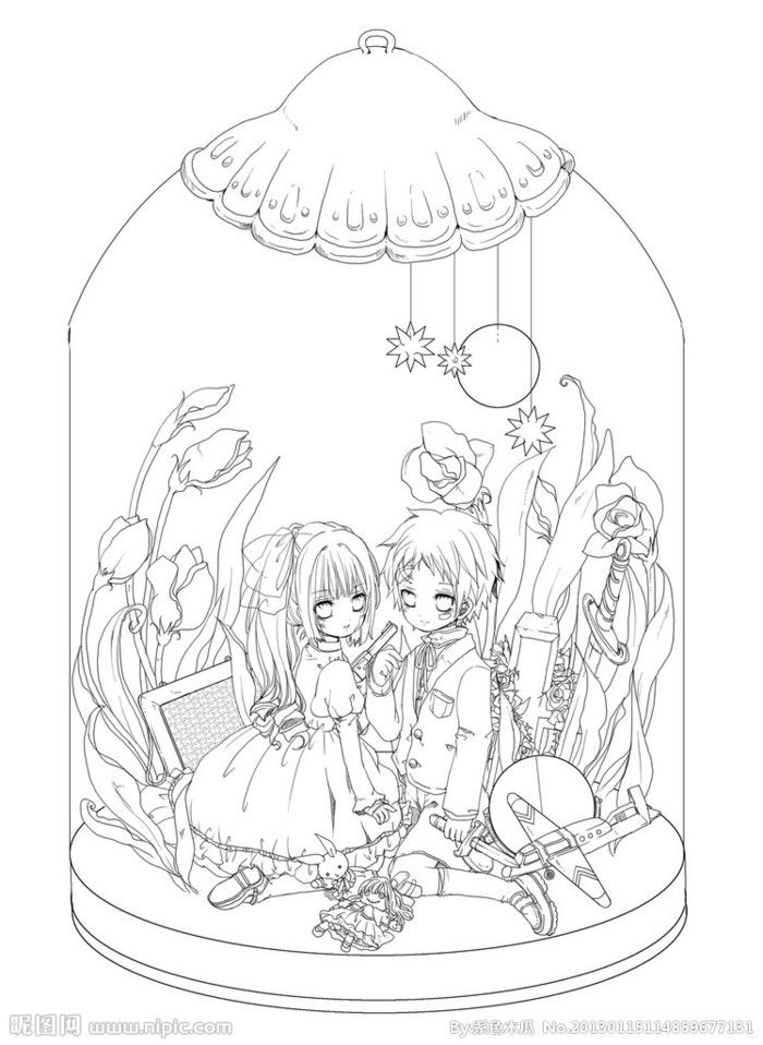 lolita coloring pages - on DeviantArt - This lovely line are IS free - copy coloring pages to color free online