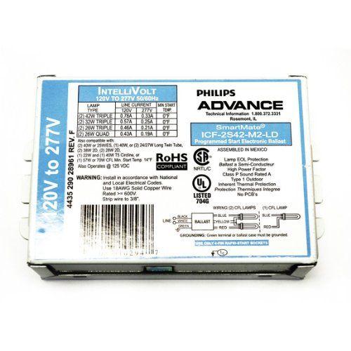 100 Watt Metal Halide Ballast Wiring Diagram Advance 24220 Icf2s42m2ld Compact Fluorescent Ballast