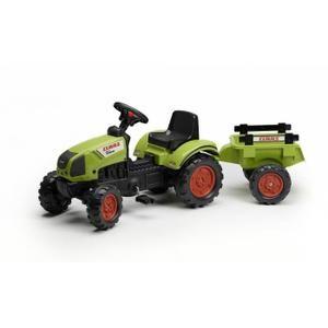 4886b19e92d503 Tracteur - Chantier FALK Tracteur à pédales vert avec remorque Claas ...
