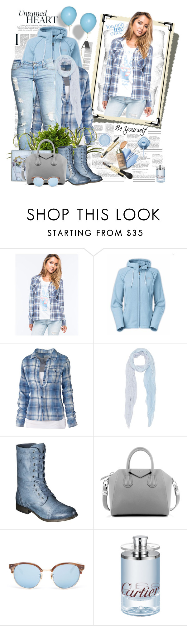 """Untamed Heart"" by summersunshinesk7 ❤ liked on Polyvore featuring Billabong, The North Face, Fat Face, Barneys New York, Mossimo Supply Co., Givenchy, Linda Farrow, women's clothing, women and female"