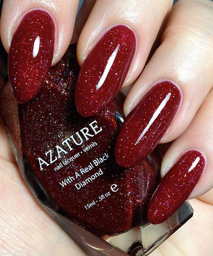 Dimonds Nails Azature Red Diamond Nail Polish