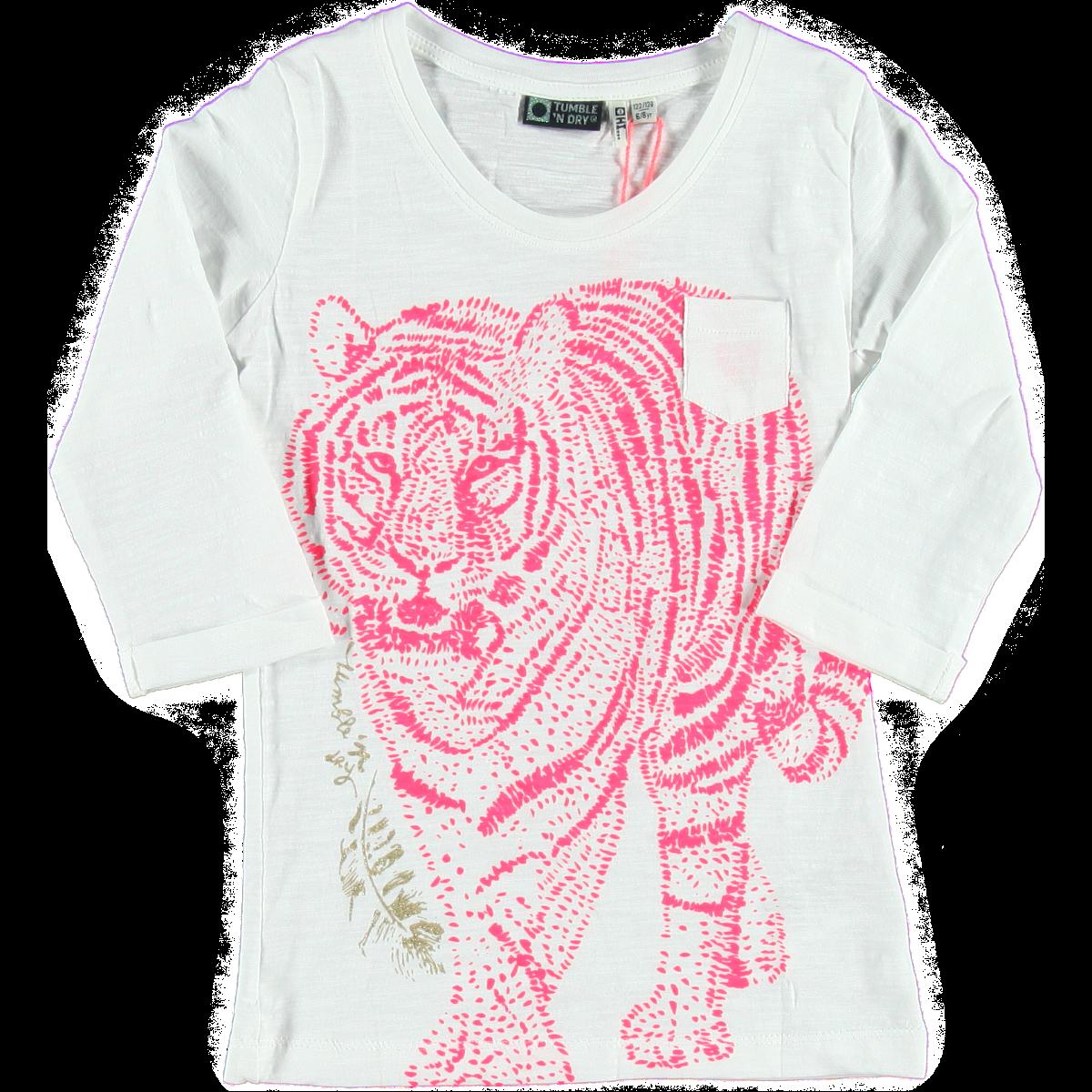T-Shirt White | Tumble n Dry | Daan en Lotje https://daanenlotje.com/kids/meisjes/tumble-and-dry-t-shirt-white-001225