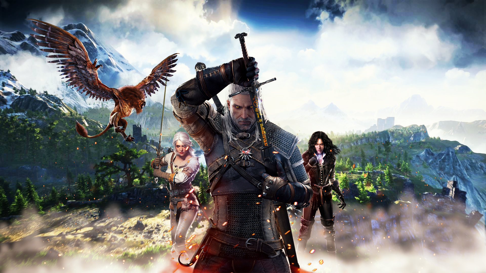 General 1920x1080 The Witcher The Witcher 3 Wild Hunt
