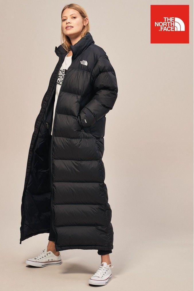 Womens The North Face Black Nuptse Duster Coat - Black  c376c76f0