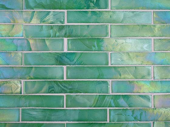 recycled glass make decorative tiles