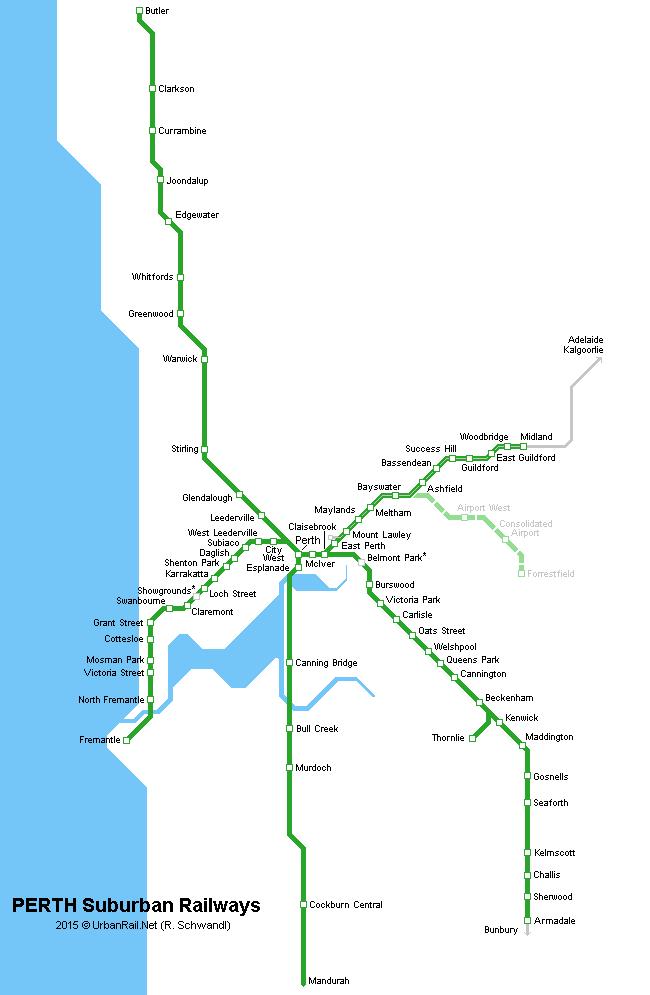 Perth Subway Map