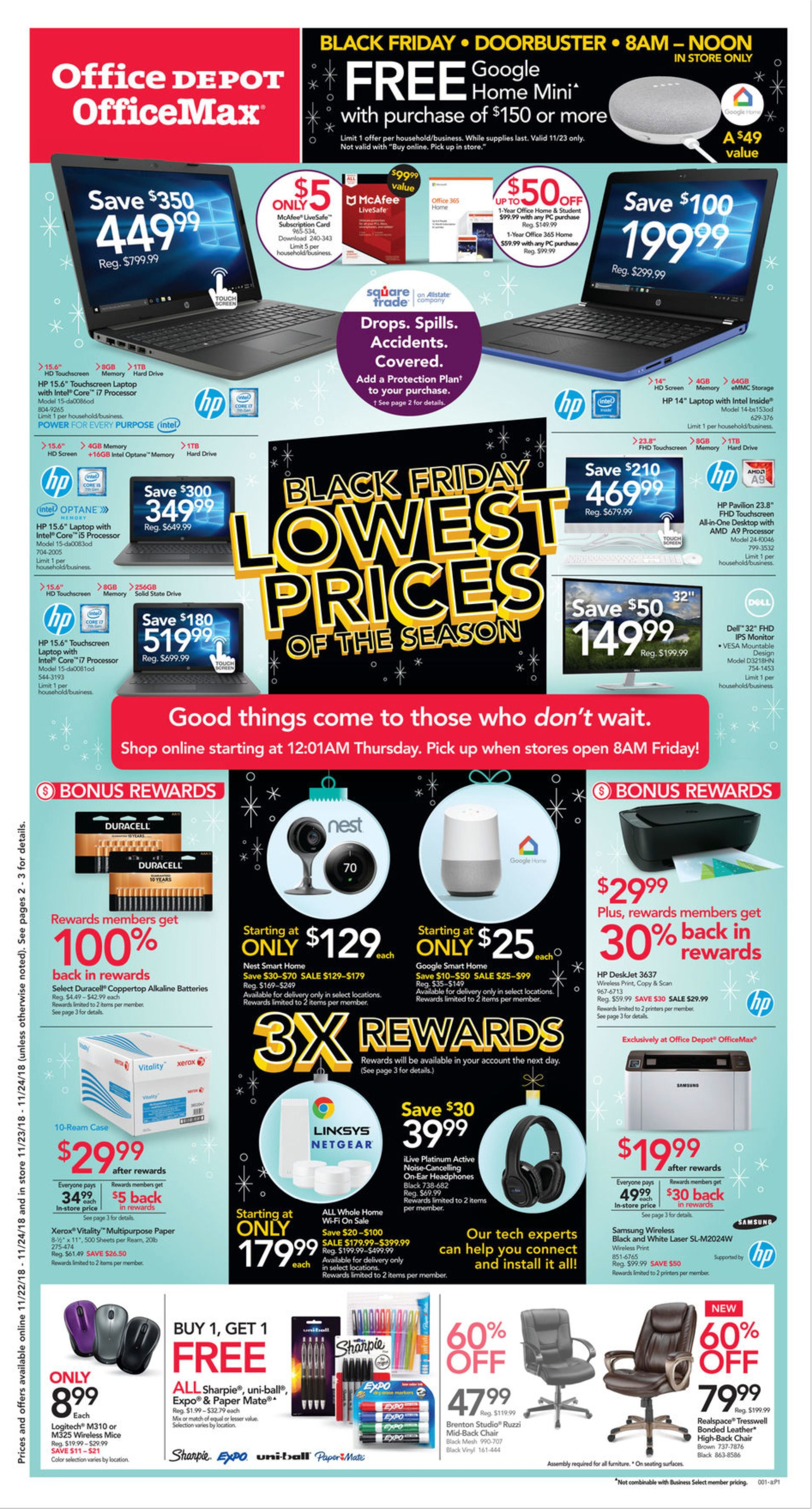 Office Depot and OfficeMax Black Friday Ad for 2018
