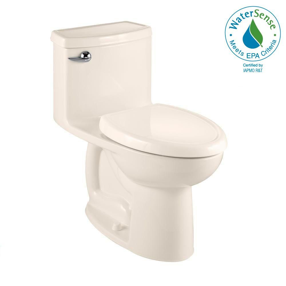 American Standard Compact Cadet 3 Flowise Tall Height 1 Piece 1 28 Gpf Single Flush Elongated Toilet In Linen Seat Included American Standard Modern Toilet Toilet