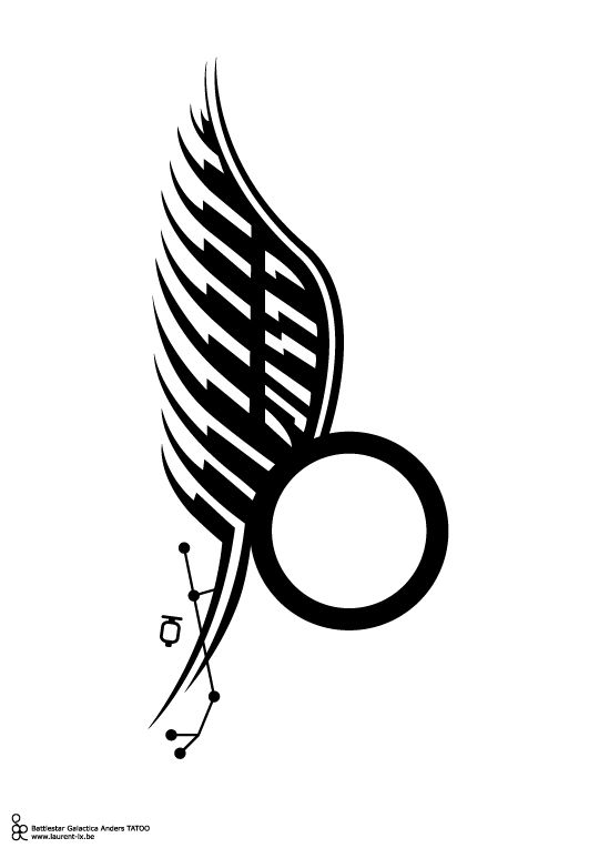 Samuel anders kara thrace tatoo bsg pinterest for Battlestar galactica tattoo