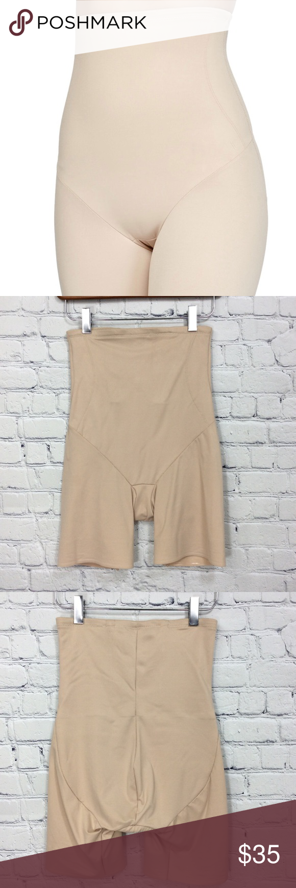 63a5d56726d57 TC Shapewear Back Magic High-Waist Thigh Slimmer This is a new but  laundered so without tags. Excellent condition. Approximate measurements  can be seen on ...