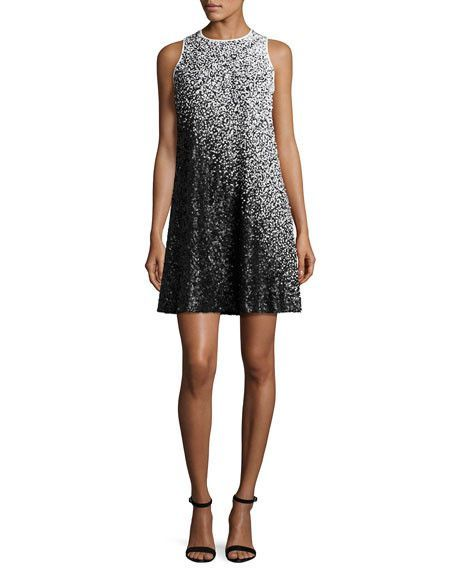db6f8c1030a9 Carmen Marc Valvo Ombre Sequin Cocktail Dress | Products | Sequin ...