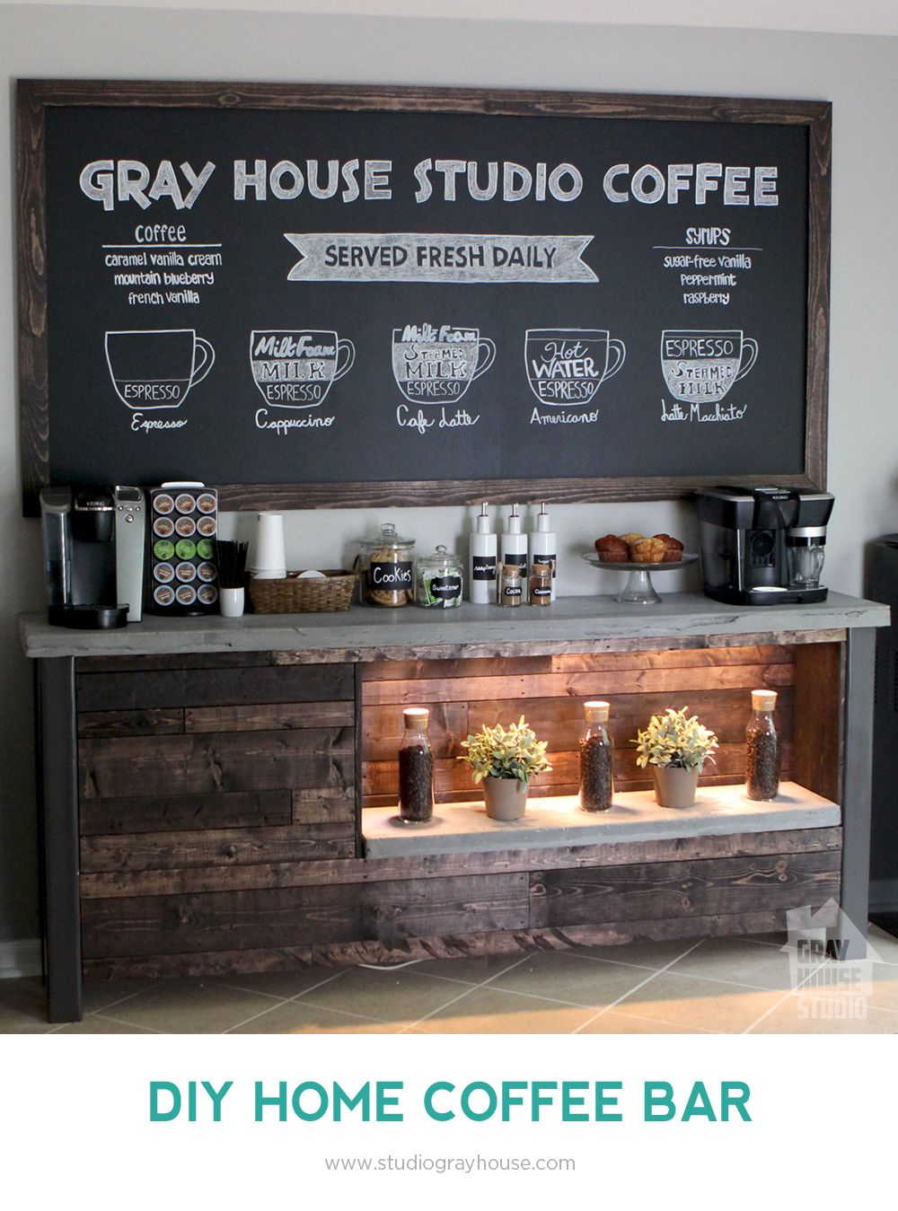 diy coffee bar diy ideas coffee bar home coffee bar. Black Bedroom Furniture Sets. Home Design Ideas