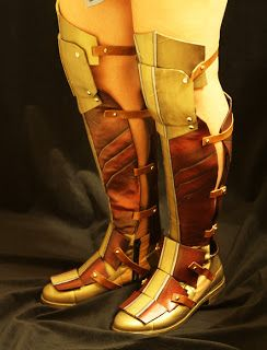 f76ab859bd Wonder Woman Costume Boots DIY Cosplay Instructions at: Dragon Born, the  Phoenix Rises: Wonder Woman Boots Part II