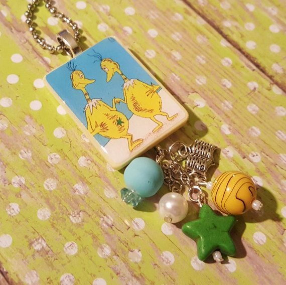 Sneetches Book Pendant Necklace Dr. Seuss by JensJunqueDrawer
