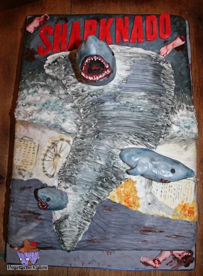 Sharknado Cake With Images Sharknado Party Birthday Party