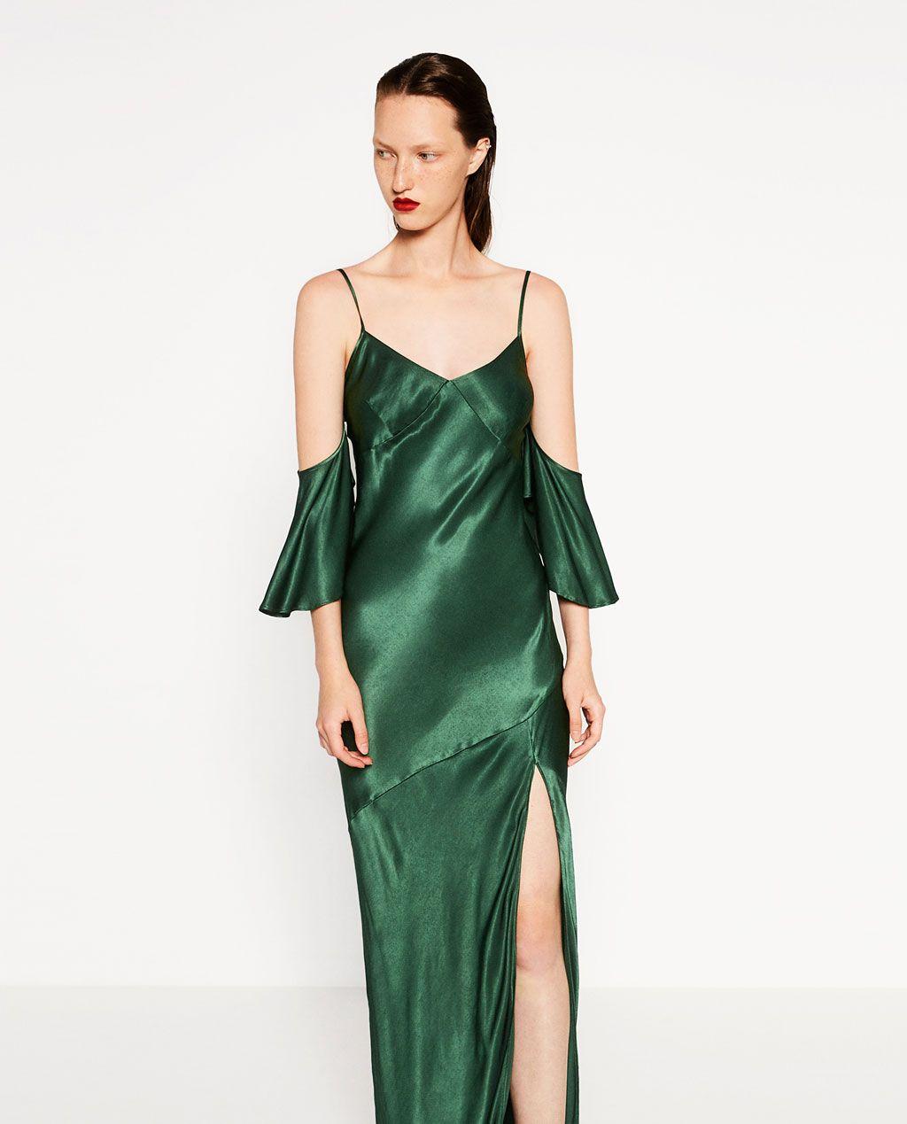 DRESSES-WOMAN | ZARA United States - STRAPPY FRILLED DRESS.-DRESSES-WOMAN ZARA United States