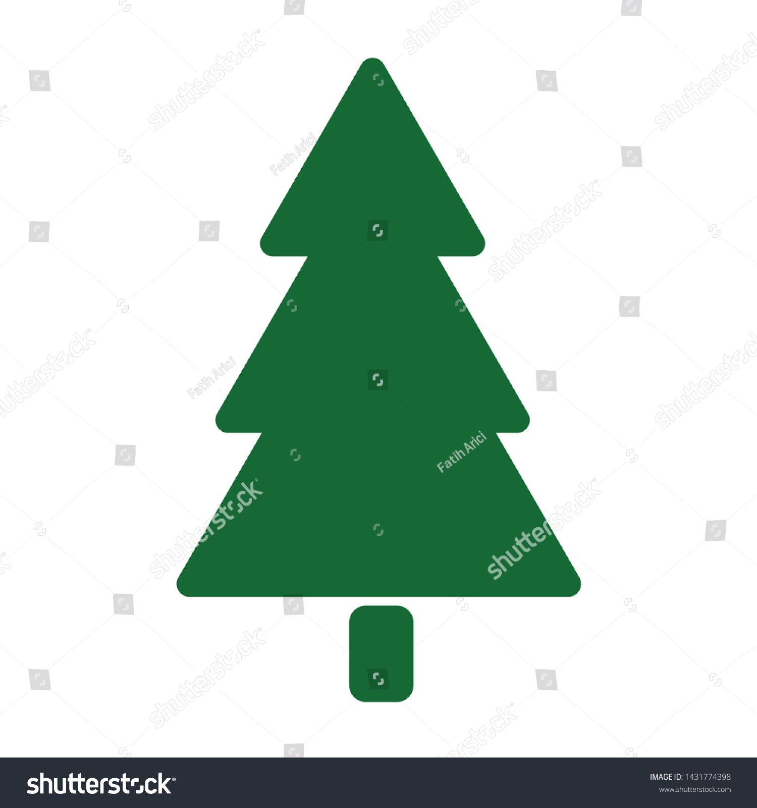 Pine Tree Decorated Christmas Tree Vector Icon Filled Flat Sign For Mobile Concept And Web Design Symbol Christmas Tree In 2020 Beautiful Images Image Stock Photos