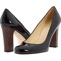 black patent leather AND a wood heel <3