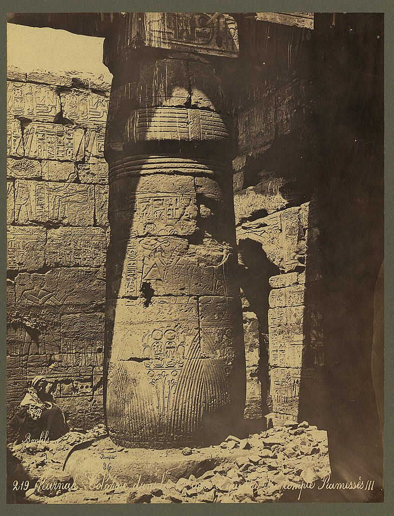 Karnak. The Middle East by Félix Bonfils 1860s-1880s