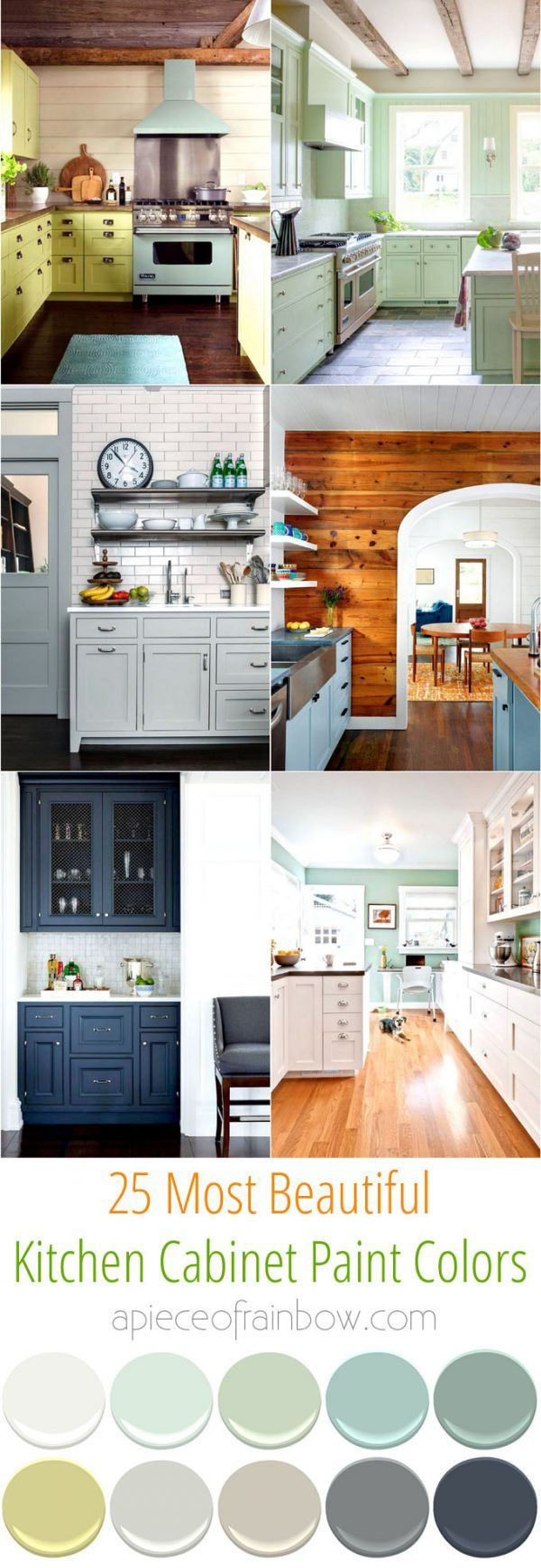 Kitchen Cabinet Paint Pallette   25 Color Palettes For Kitchens And Beyond.  Easily Transform Your Space With These All Time Favorite Colors And  Designer ...