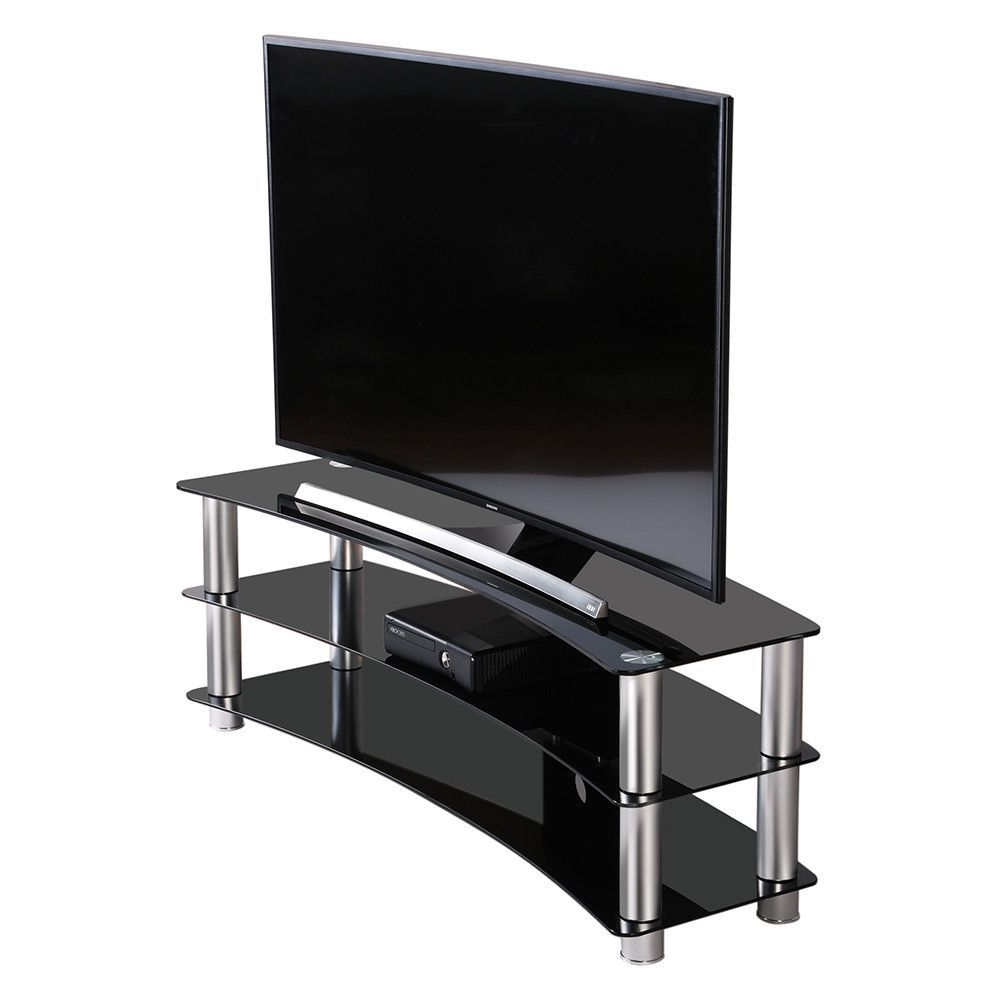 Fitueyes Tv Stand Entertainment Center Media Furniture Fit Curved Screen Tvs Ts313001gb Glass Tv Stand Curved Tv Stand Tv Stand And Entertainment Center Tv stand for flat screen tvs