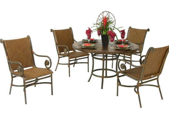 "Leaders Casual Furniture - Tahiti 5Pc. 48"" Round Dining Set, $1,599.99 (http://www.leadersfurniture.com/products/tahiti-5pc-48-round-dining-set.html)"
