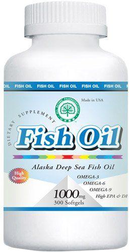 1 Bottle Alaska Deep Sea Fish Oil 1000mg 300 Softgels From All