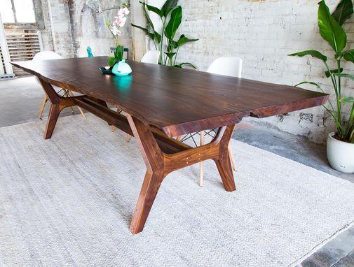 Custom Made Claro Walnut  Copper Live Edge Midcentury Modern Best Custom Made Dining Room Tables Design Ideas