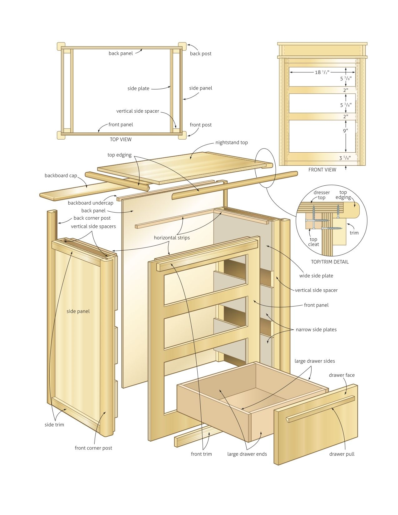nightstand dimensions wood working pinterest