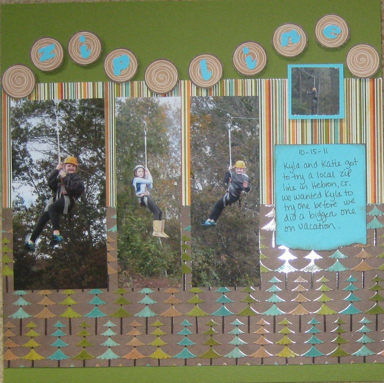 Scrapbook ideas las vegas - Scrapbooking Ideas For Ziplining Scrapbooking Layout Zip Line 15 Minute Scrapbooker