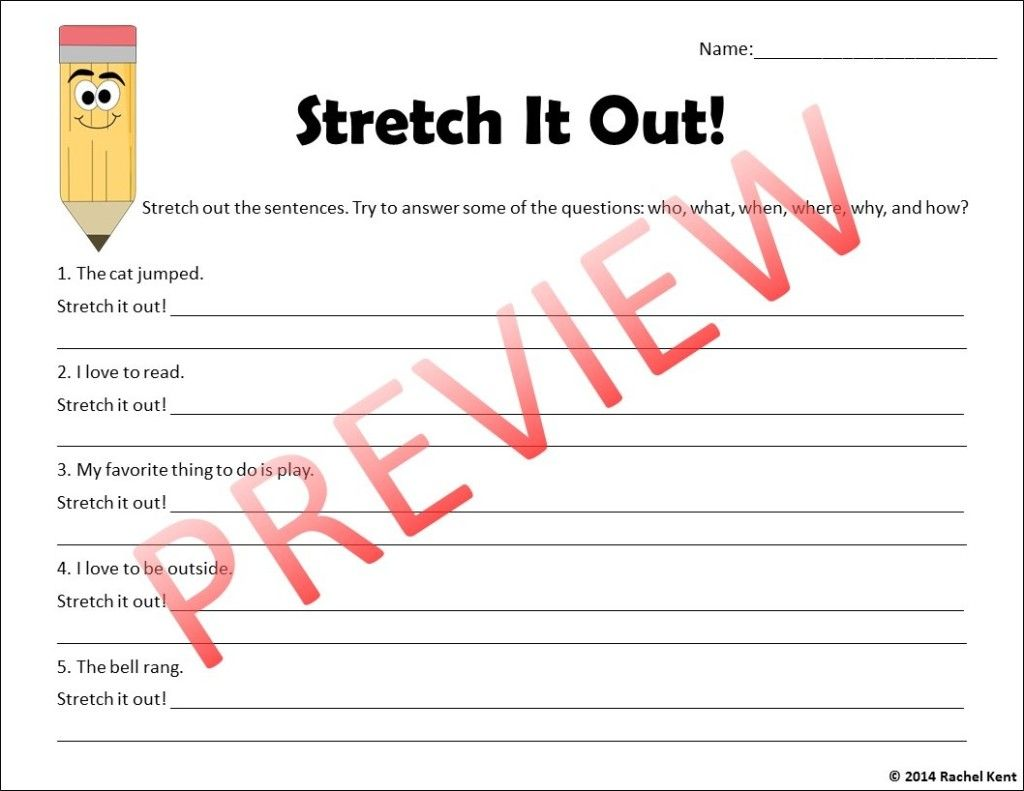 Stretch The Sentence Writing Activity