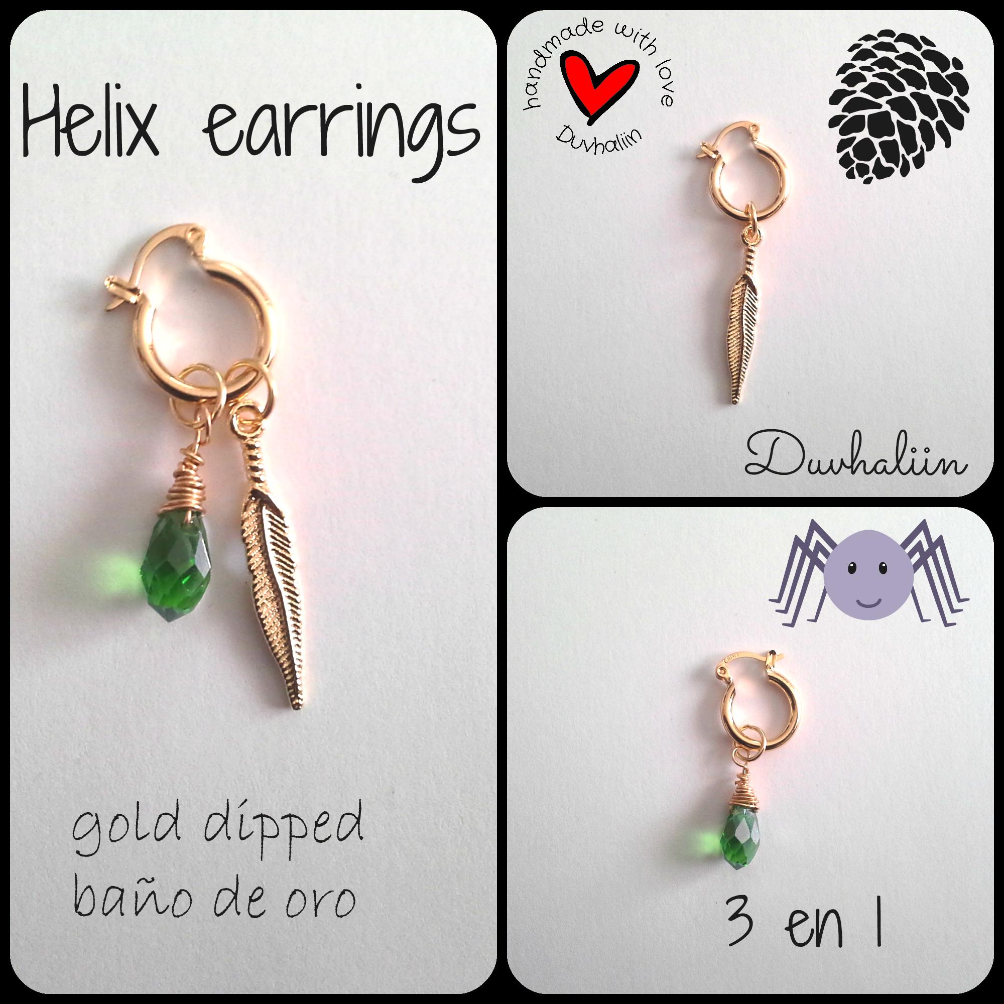 Helix earring 3 en 1 arete para perforaci n de cart lago for Accesorios bano cristal