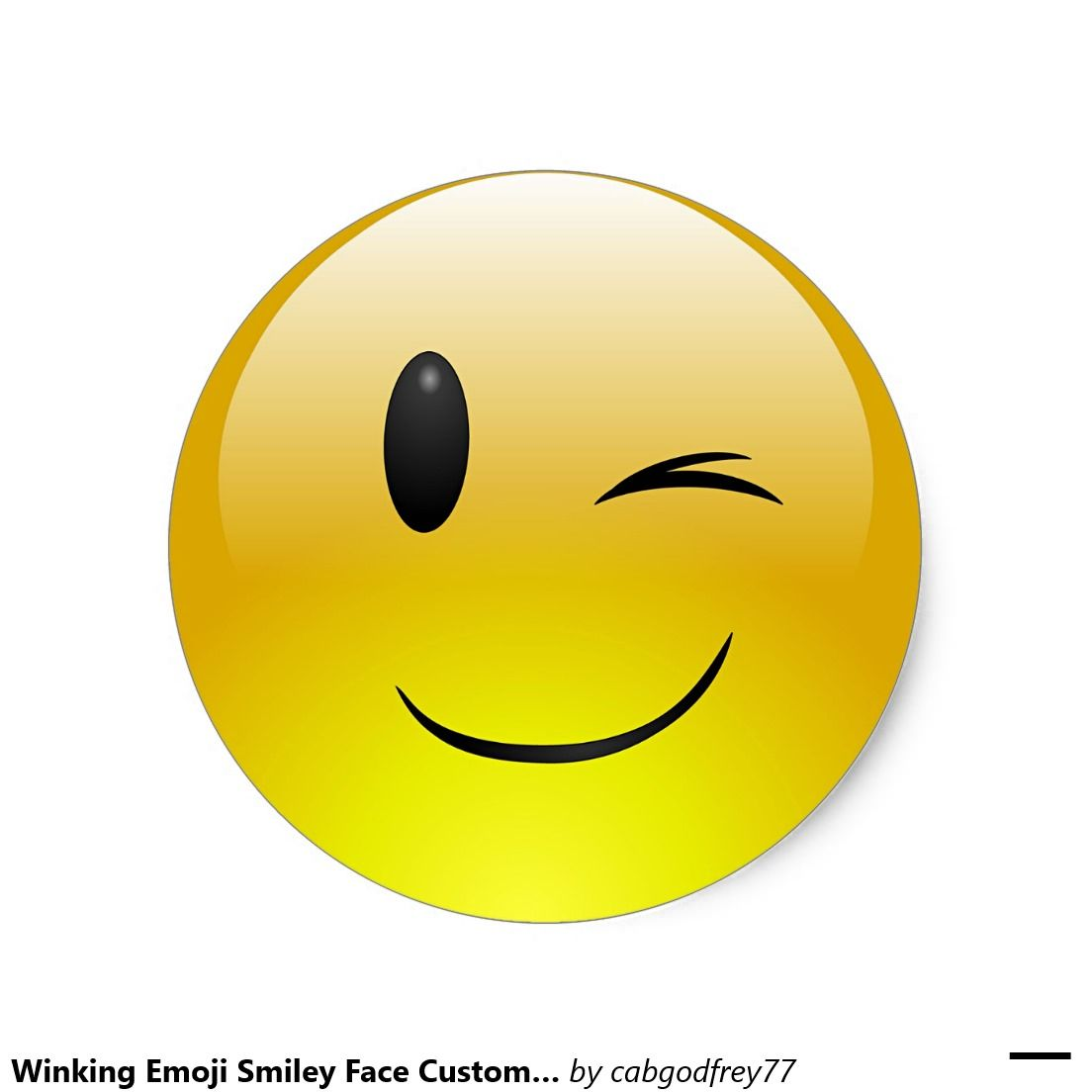 Winking Emoji Smiley Face Custom Sticker Winking Emoji Funny Emoji Faces Emoji Tattoo
