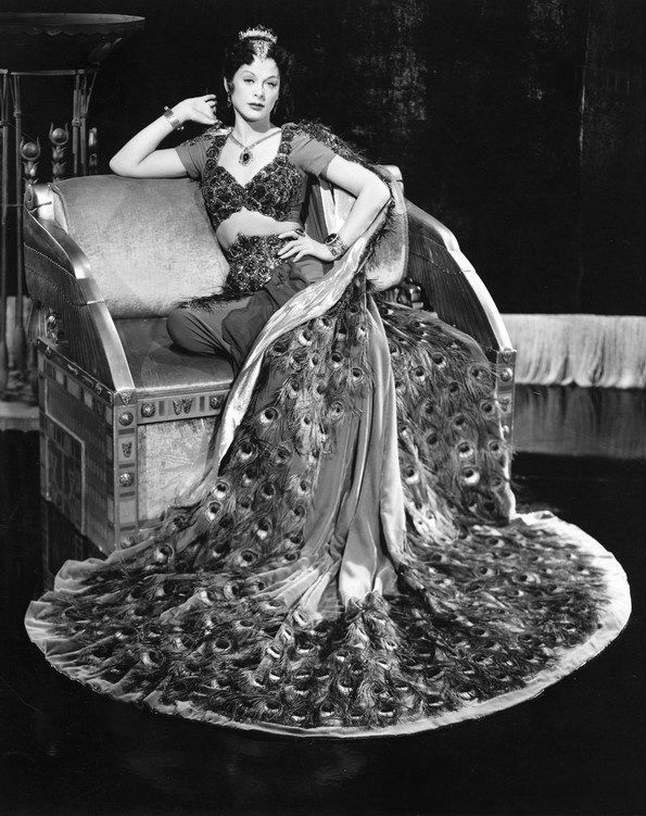 Hedy Lemarr wearing peacock dress from Samson and Delilah
