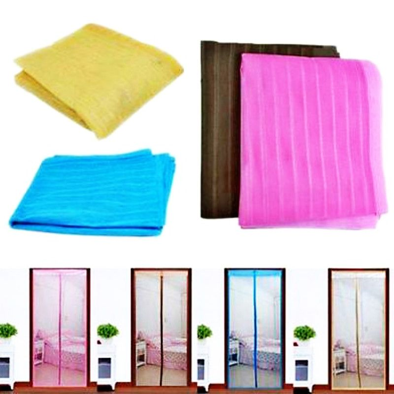 Magic Door Screen Mesh Net Curtain Hands Free Retractable With Magnets  Anti Mosquito Bug