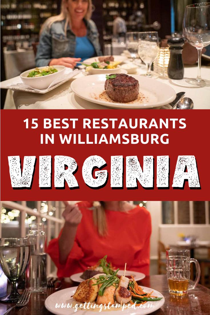 15 Best Restaurants In Williamsburg Virginia 2020 Foodie Guide Getting Stamped In 2020 Williamsburg Virginia Williamsburg Virginia Vacation