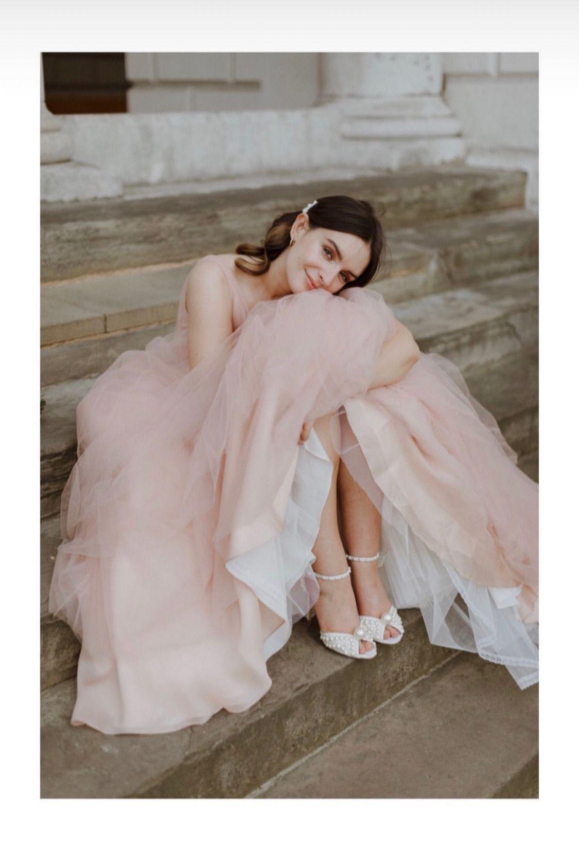 Liv Purvis Wedding Looks Blush Pink Weddings Pink Wedding Dress