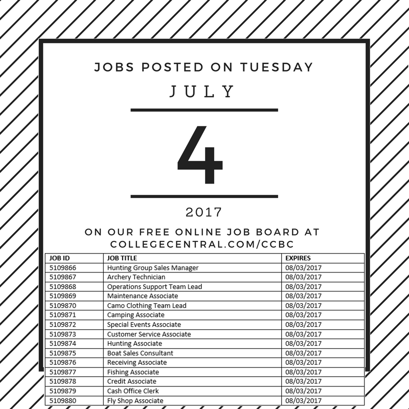 Pin By Ccbc Career Services On Jobs Posted On Our Free Job Board