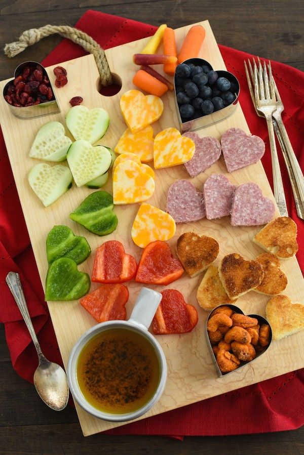 valentine's day snack board - foxes love lemons