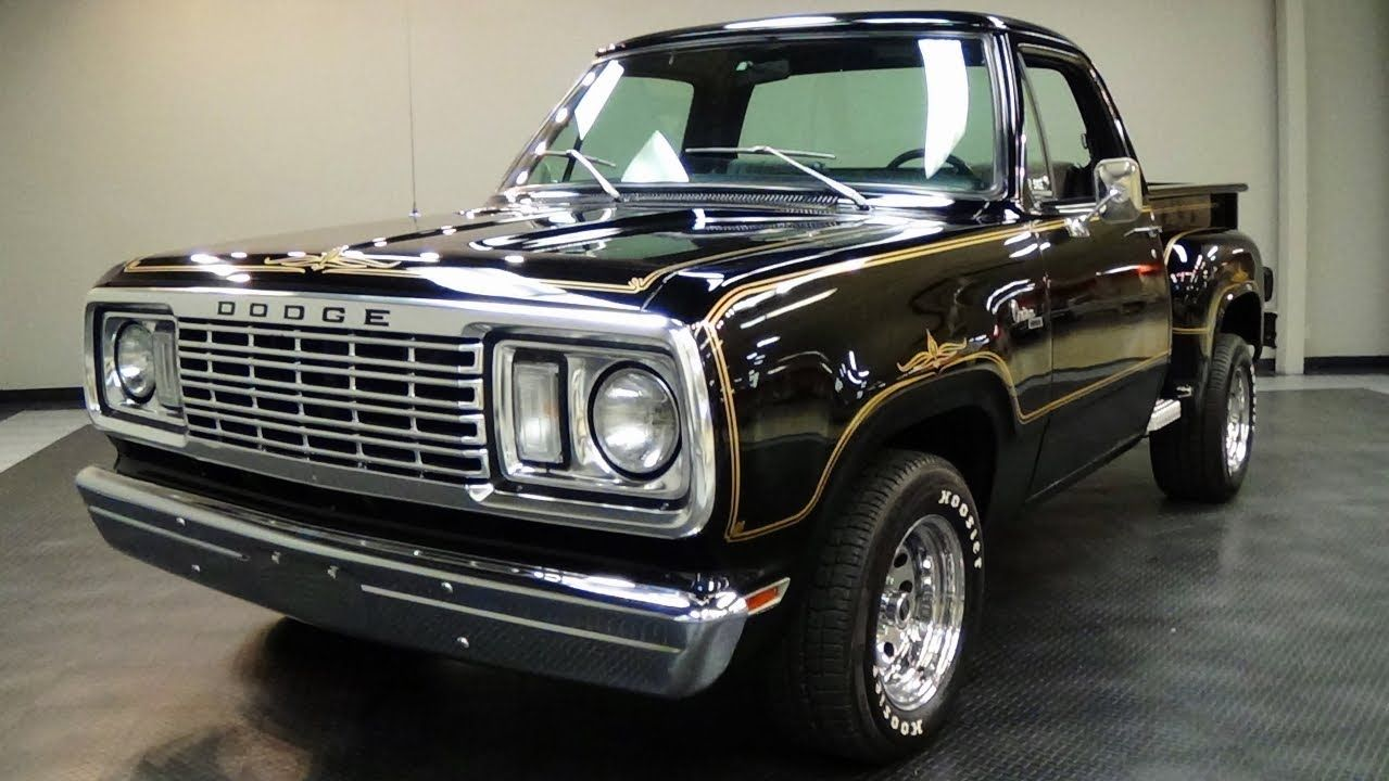 I thought you d like a look at this nicely restored 1978 dodge warlock pickup this truck is very similar to the dodge little red express trucks from the